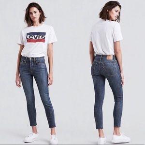 Levi's Wedgie Skinny Raw Fray Hem Jeans